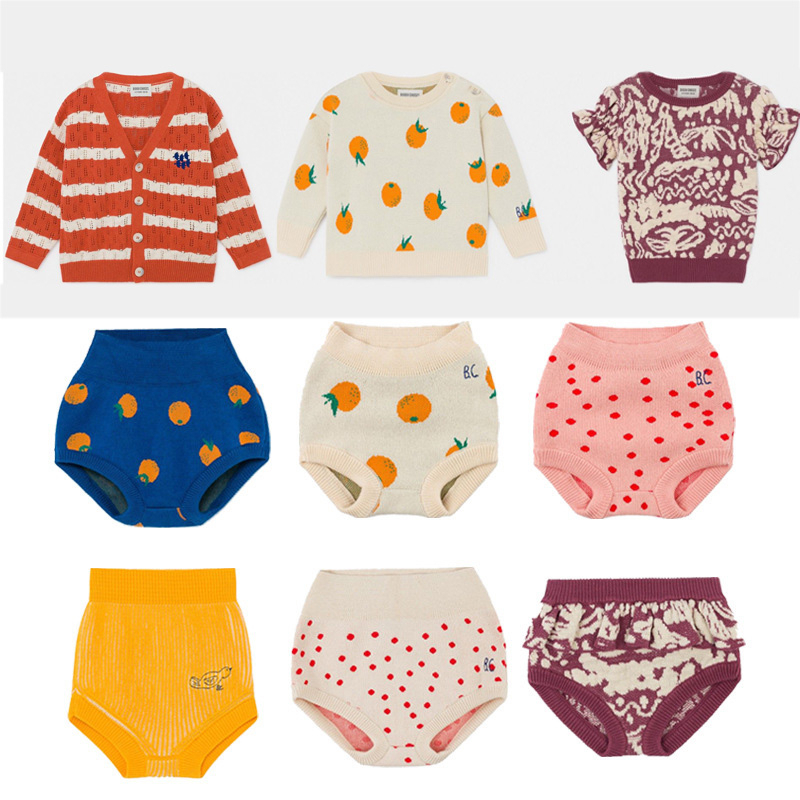 Kids Knit Sweaters 2020 BC Brand New Spring Boys Girls Fashion Print Sweaters Outwear Baby Child Cotton Clothes