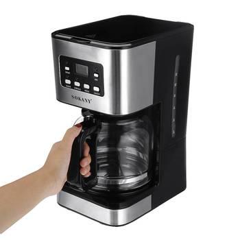 220V Coffee Machine 12 Cups For Espresso Cappuccino Latte Semi-Automatic Steam Coffee Maker Detachable Washable Coffeemaker 3