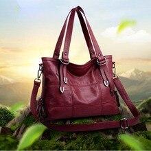 PU Leather Handbags Designer Soft Shoulder Bag For Women Large Capacity Tote Luxury Messenger Crossbody Bag Top-Handle Bag Bolsa