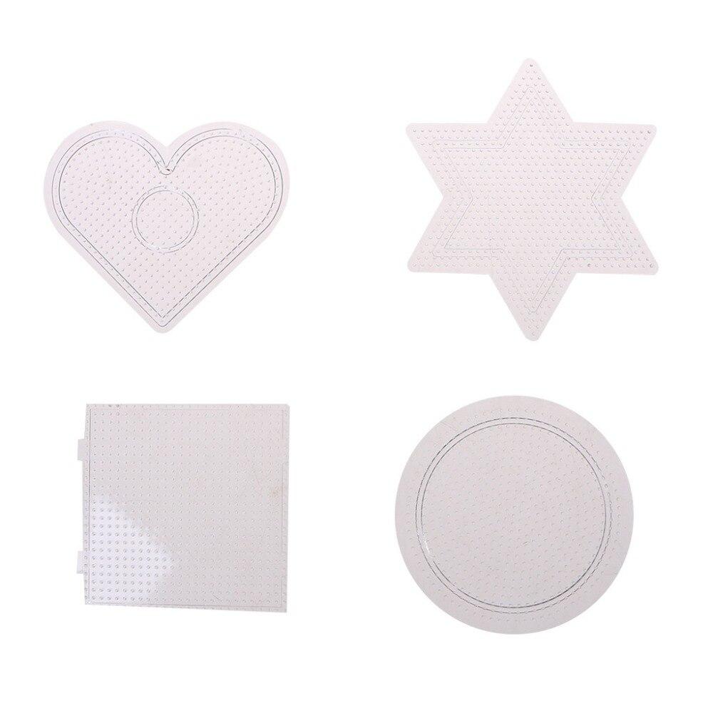 4Pcs-Lot-Transparent-3D-Puzzle-For-2-6mm-Hama-Beads-Pegboards-Transparent-Plastic-for-DIY-Children