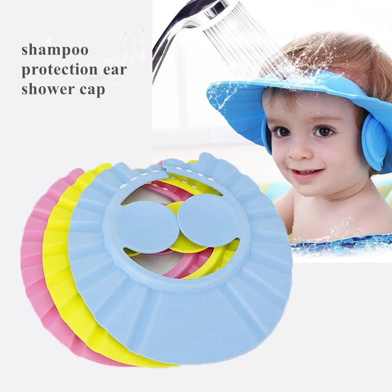 Shampoo Shower Cap Bathing Bath Protect Soft Cap Hat For Baby Wash Hair Shield Bebes Children Bathing Shower Cap Hat Kids Shampoo Cap Aliexpress