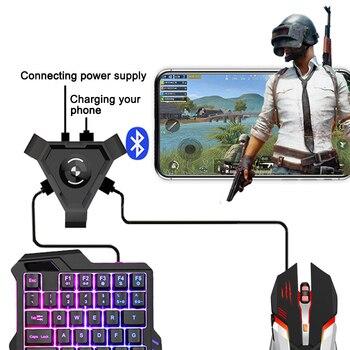 Nuevo teclado de juego conversor de ratón conjunto mando de juegos móvil controlador para Android IOS teléfono DOM668