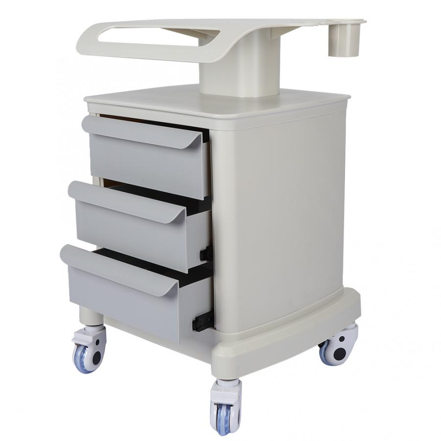 Space Saving Beauty Trolley Stand Rolling Salon Cart Holder With 3 Tiers Draws Assembled Stand Holder