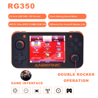 2019 ANBERNIC New Retro Game 350 Video Game Handheld game console MINI 64 Bit 3.5 inch HD IPS Screen RAM 16G Game Player RG 350