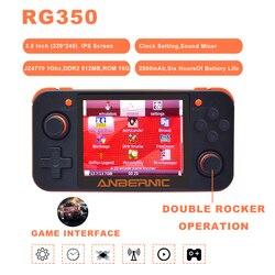 Anberonic جديد ريترو لعبة RG350 لعبة فيديو وحدة تحكم بجهاز لعب محمول صغير 64 بت 3.5 بوصة IPS شاشة 16G + 32G TF لعبة لاعب RG 350 PS1