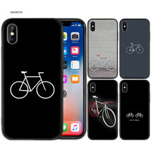 BIKE CYCLING Black Rubber Soft Silicone Case Cover for iPhone X XS XR XS 11 11Pro Max 7 8 6 6S 5 5S SE Plus Fundas Capa Cover(China)