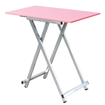 Folding table home small apartment rectangular table outdoor stall table learning writing desk simple small table