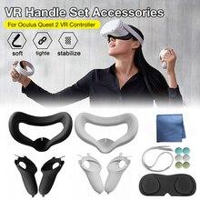 Oculus Quest 2 silikon VR kapak kulaklık gözlük Anti Sweat su geçirmez yedek yüz göz dolgu kapağı aksesuarları takım elbise