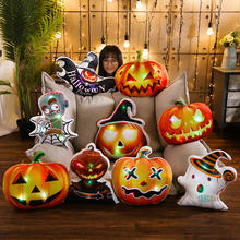 40cm Glowing Ghost Calling Halloween pumpkin man Plush Toys Pillow Zombie bat Soft Stuffed Plants Dolls Kids toy Gifts