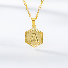Letter Pendant Necklaces for Women Stainless Steel Charm English Initial Alphabet Gold Color Chain Choker Jewelry BFF(China)