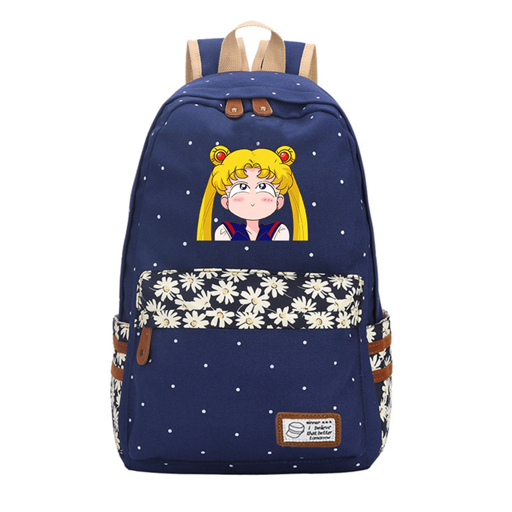 Japan Anime Game Sailor Moon Luna Rucksack Cosplay Backpack Womens White Satchel