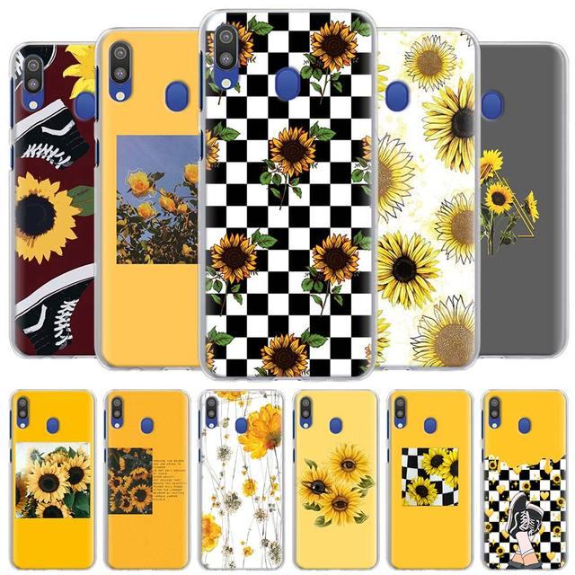 Mignon Été Tournesol Floral Étuis de Téléphone pour Samsung Galaxy A10 A20 A30 A40 A50 A70 A51 A71 5G A11 A21 A31 A91 Couverture Rigide