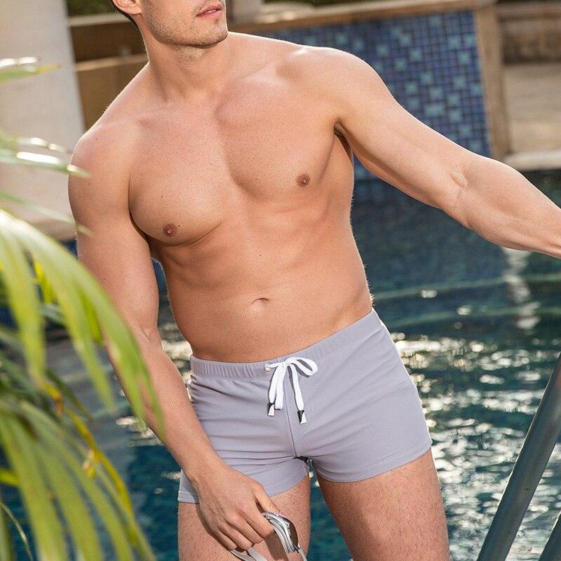 5 Color Push Up Pad Plus Size Sexy Swimwear Men Swimming Trunks Beach Wear Swim Boxer Briefs Surfing Shorts Gay Men's Swimsuit