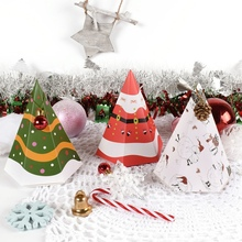 50Pcs Christmas Candy Box Gift Decoration Festival Party Supplies