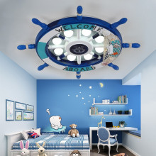 цена на Cartoon Rudder Baby Girls Boys Kids Ceiling Light Lamp Children Room Ceiling Light For Kids Room Bedroom Nursery Led Lighting