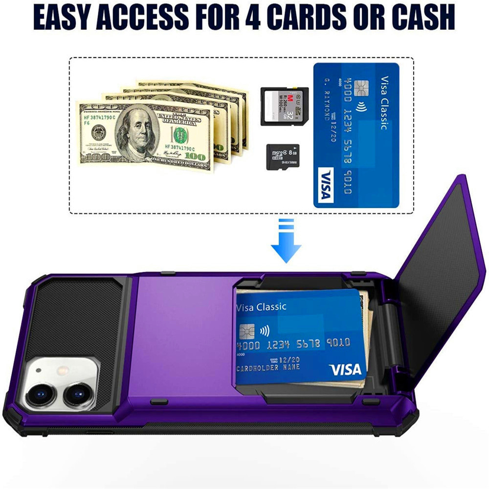 The Armour Case With Hidden Credit Card Holder For iPhone