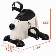 W002E портативный домашний тренажер фитнес ЖК-педаль с дисплеем велосипед руки и тренажер для ног Мини педальный велосипед для занятий белый и черный
