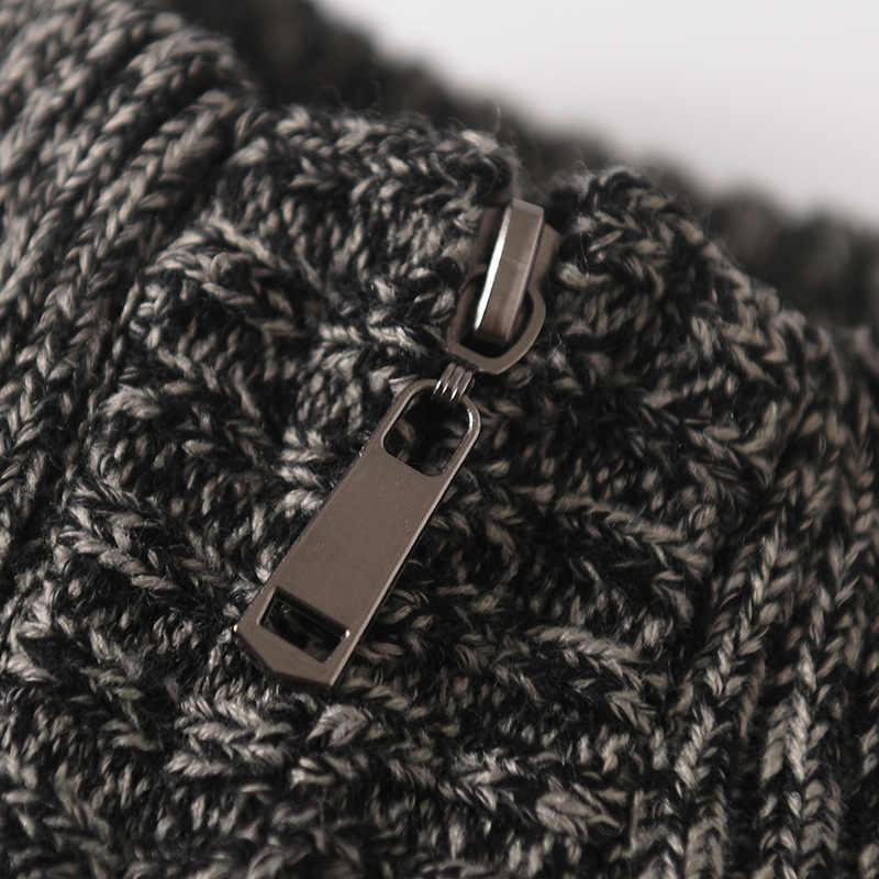 Sweter męski Casual O-Neck sweter męski jesienno-zimowy dopasowany bez rękawów koszula męskie swetry z dzianiny Pull Homme Plus Szie 6XL