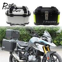 Aluminum Motorbike Top Case Cargo Tail Box w/ Bracket Kit for Honda BMW Triumph Yamaha Suzuki Street Bike 45L Luggage Topcase