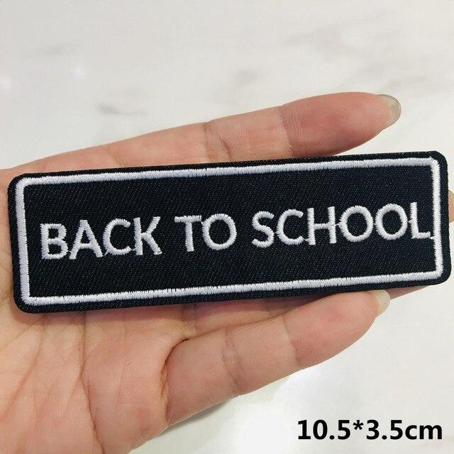 1 pçs preto e branco letras banda rock bordado remendos para camiseta ferro em listras apliques roupas adesivos emblemas de roupas