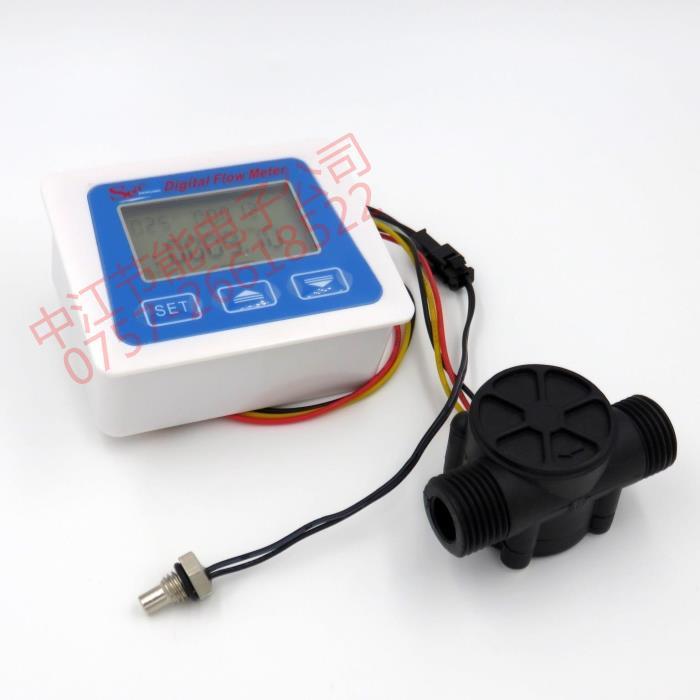 Digital Display Flowmeter, Electronic Water Meter, Water Flow Sensor