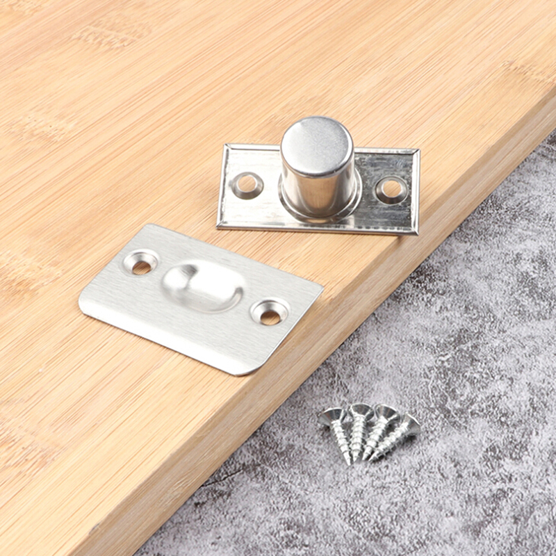 Silver Stainless Steel Closet Door Spring Ball Catch Home Cabinet Door Latch High Quality