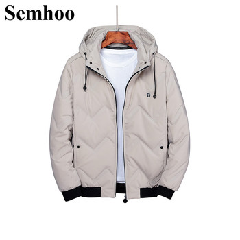 2020 Winter New fashion Down Jacket Men's Short Coat with hats Hooded Down Jacket Thick Warm Overwear Parkas Plus Size L---5XL