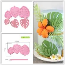 3 Sizes Monstera Leave Silicone Mold Fondant Cake Decoration Silicone Mold Hand Made Decorating Leaves Chocolate Candy Silica G