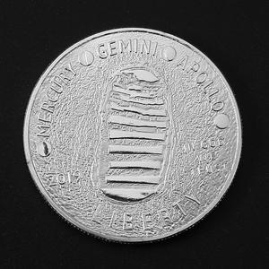 Image 2 - 10 ชิ้น/ล็อต MERCURY Gemini Apollo 50TH ANNIVERSARY เหรียญที่ระลึก US Space นักบินอวกาศดวงจันทร์ Footprint สะสมเหรียญ