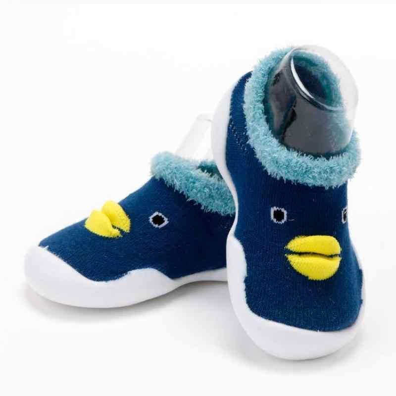 Zapatos lindos de pato de dibujos animados para bebés, niños y niñas, zapatos antideslizantes con suela de goma para bebés, zapatos suaves para bebés, primavera y otoño