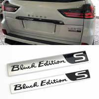 Для логотипом Lexus, LX570 LX470 2008-2019 аксессуары для автомобиля задний багажник специальные 3D черный эмблема «Edition» значок абс наклейки стайлинга ...