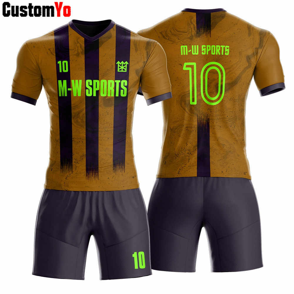 Custom sport wear sublimation red and dark blue soccer jersey