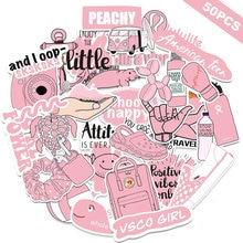50 шт vsco розовые Мультяшные наклейки для девочек милые модные