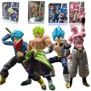 14-22cm Japan Anime SHF Dragon Ball Super Broly Vegeta Buu Trunks Action Figure DBZ Goku Broly Figurines PVC Model Toys(China)