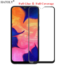 For Samsung Galaxy A10s Glass Tempered for Film Full Glue Cover Screen Protector