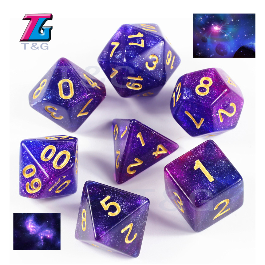 Hot Acrylic Polyhedral Dice For TRPG DND Board Game
