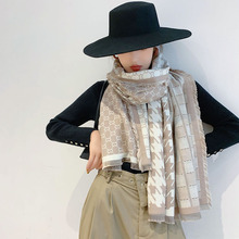 2019 new arrival women houndstooth cashmere like scarves double sides female winter thick warm wool blanket scarf shawl wraps