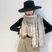 2019 nuove donne di arrivo pied de poule cachemire come sciarpe doppi lati femminile di inverno caldo di spessore coperta di lana dello scialle della sciarpa avvolge