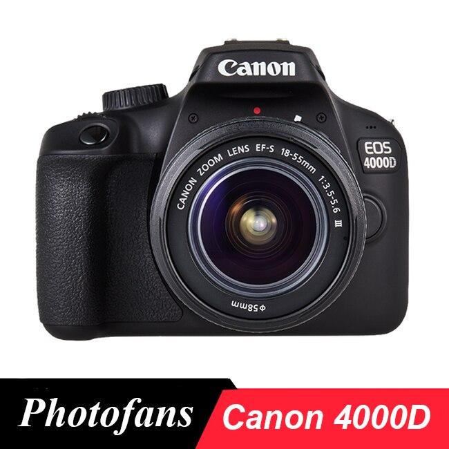Камера Canon 4000D/Rebel T6 DSLR с объективом 18-55 мм-WIFI-видео