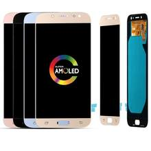 Di alta Qualità A CRISTALLI LIQUIDI Per Samsung Galaxy J7 Pro 2017 LCD J730F SM-J730 Super Amoled Display LCD con Touch Screen Digitizer montaggio(China)