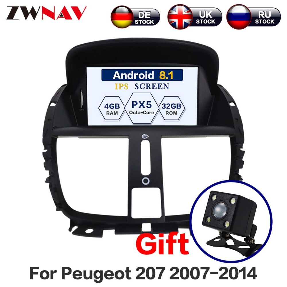 <font><b>Android</b></font> <font><b>10</b></font> 4+64G DSP Car DVD Player for Peugeot 207 2007 - 2014 <font><b>GPS</b></font> Navigation Radio Stereo Bluetooth Multimedia Free Map Camera image