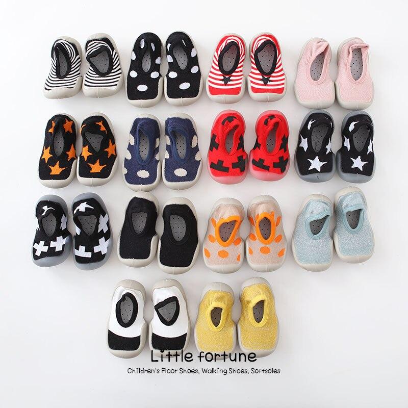Summer Children Anti-slip Floor Socks Baby Toddler Shoes Socks Soft Rubber Sole