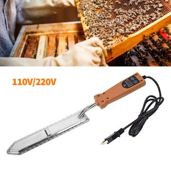 1 sztuk 110 220V elektryczny ue US wtyczka miód Cutter pszczelarstwo miód skrobak skrobanie pszczelarz Apiculture akcesoria tanie i dobre opinie CN (pochodzenie) Beekeeping Tools Electric Honey Tool Beekeeping Supplies