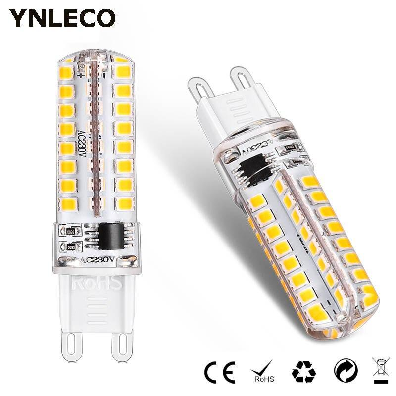 Paquete de 6 bombillas LED G9 regulables 220V 110V lámpara LED G9 bombillas de 4W Luz 64LED 360 grados 2835 SMD reemplazar la lámpara halógena de 30W Luz LED para debajo de gabinete ultradelgado de 38/70/103 LED, lámpara de pared del armario con Sensor de movimiento de recarga USB para cocina, iluminación de armario