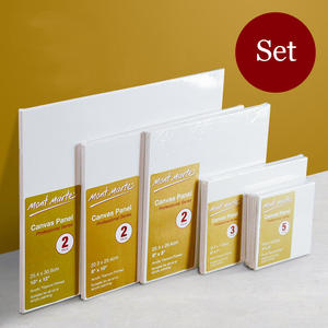 Blank Oil-Painting Canvas-Board Acrylic White Cotton for Square Multiple-Sizes