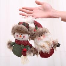 Dolls Christmas-Decoration Santa-Claus Ornaments Snowman Hanging Gift Door-Tree New-Year