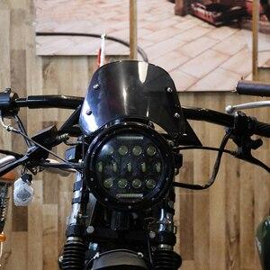 Image 3 - Accessori deflettore vento parabrezza moto 5 7 pollici per Suzuki Bandit Honda Hornet 600 Kawasaki Zephyr 750