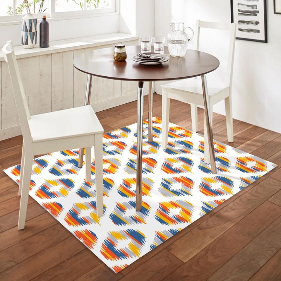 Modern Style Parlor Carpets Dining Room Decor Floor Area Rug Bedside Flannel Anti Slip Rugs Geometric Grid Living Room Carpet Carpet Aliexpress