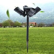4 Head 28LED Solar Garden Light Adjustable Spotlight Securit