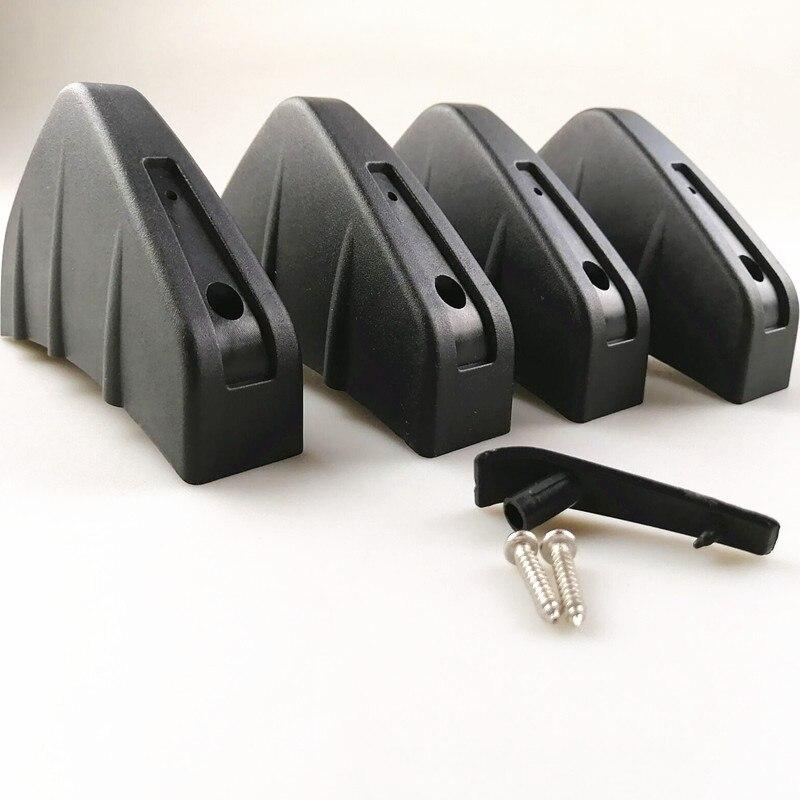 4pcs Universal Car Rear Bumper Casting Shark Spoiler For Mini One Cooper R50 R52 R53 R55 R56 R60 R61 PACEMAN COUNTRYMAN CLUBMAN